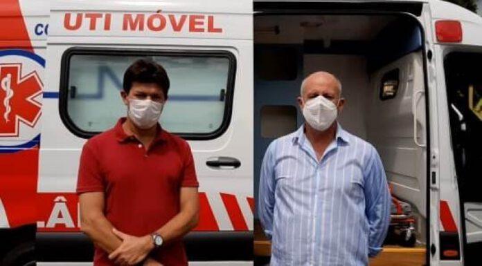 Legenda: Prefeito, Cleverson Santos e Secretário de Saúde, Jesus Baird. Foto: Assesom-PMCR. Reportagem: Angela Bezerra